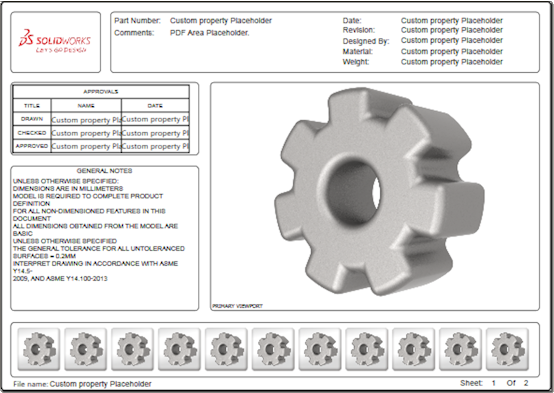 2018 What\'s New in SOLIDWORKS - 3D PDF Templates